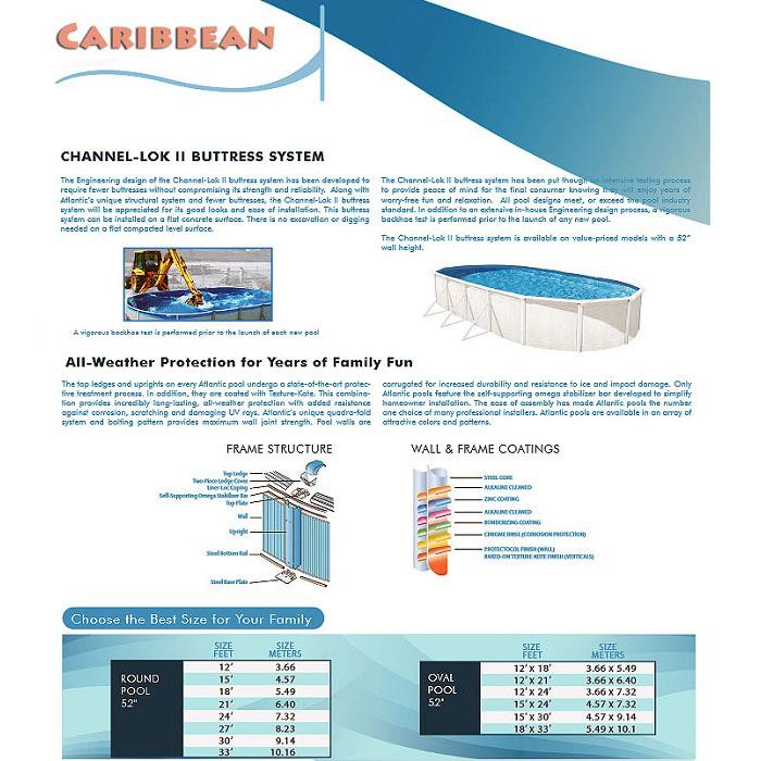 Caribbean above ground pool Lakeland FL