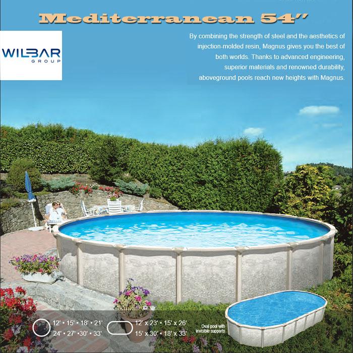 Mediterranean above ground pool Lakeland FL